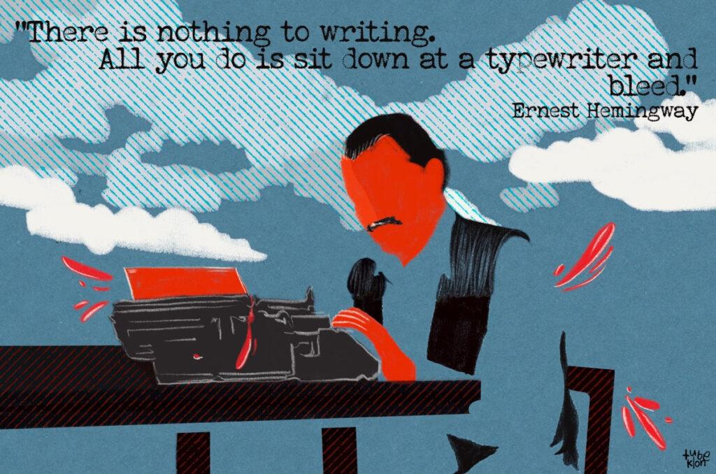 Ernest Hemingway-Tubeklon-Writing-Yazmak